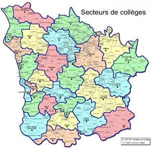 Carte secteurs collèges