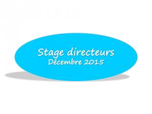 Stage directeurs