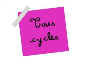 tous cycles